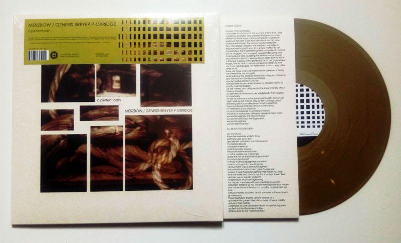 MERZBOW GENESIS BREYER P-ORRIDGE A Perfect Pain - Gold Vinyl